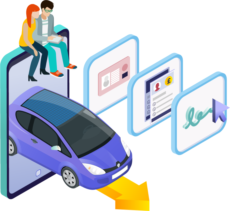 contactless car finance at home