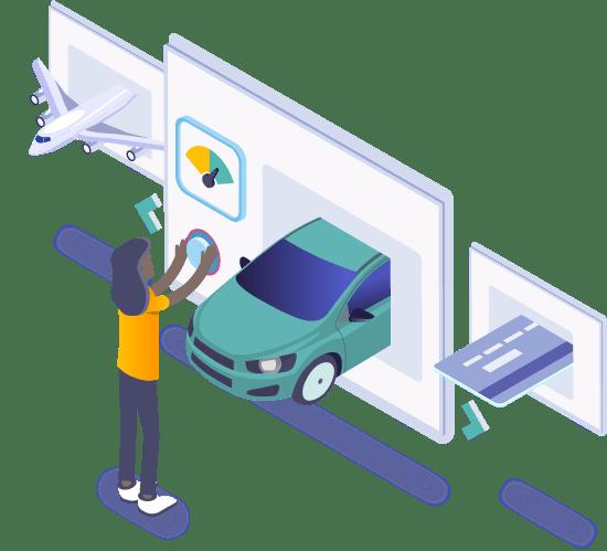 Credit pre-screening customer choosing product
