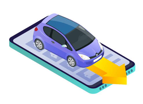 purchase car using phone